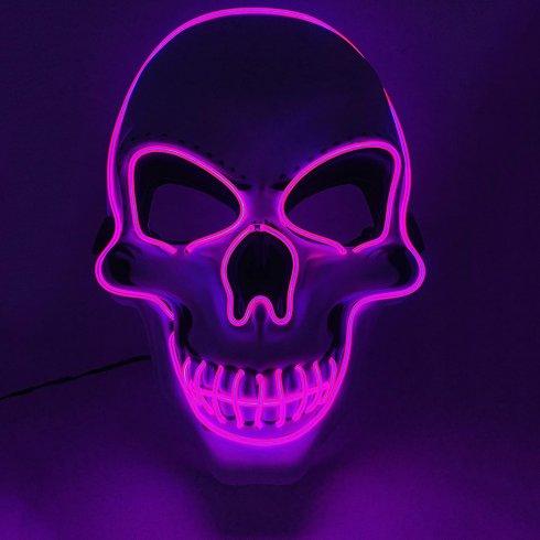 Masca LED SKULL - violet
