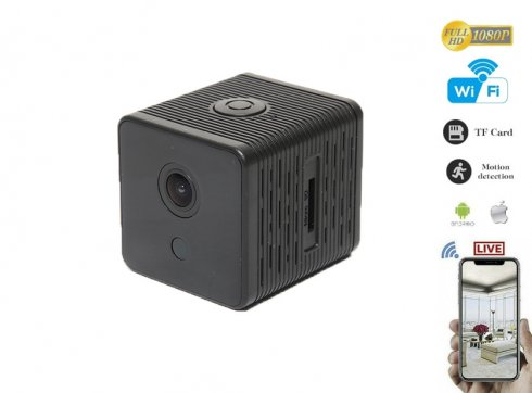 Wifi Mini FULL HD IP camera with magnetic swivel holder + extra long battery life