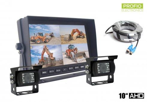 """Kit de cámara de marcha atrás Monitor de coche LCD HD de 10 """"+ 2x cámara HD con 18 LED IR"""