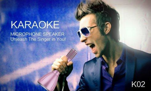 Párty karaoke mikrofón 5W s Bluetooth a pamäťovou kartou