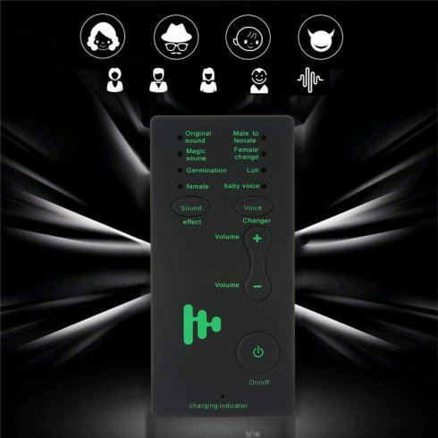 Voice modifier for call (7 modes) + headphones with microphone