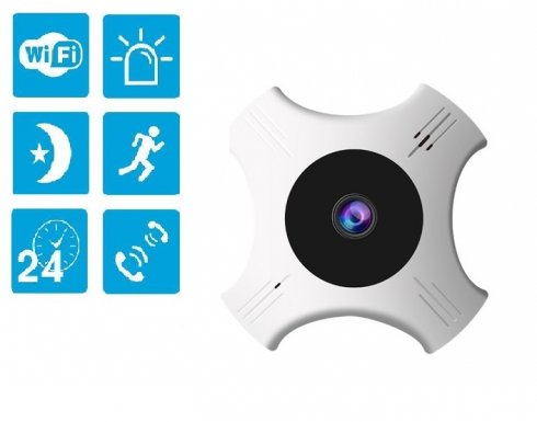 FULL HD panoramic 360° security camera with 5G + WiFi + IR vision