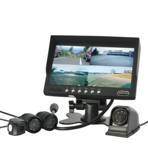"Parking and monitoring system 4 - Cameras with 7"" LCD"