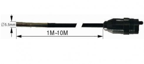 10 м гусиная шея - 5,5 мм труба + 5,5 мм Лен