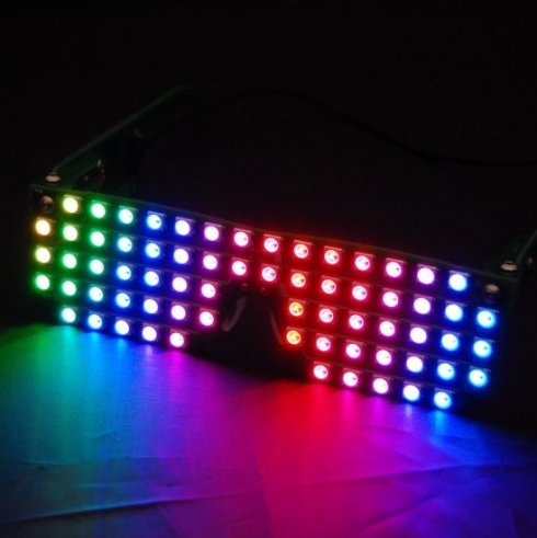 RGB LED party glasses with various animations