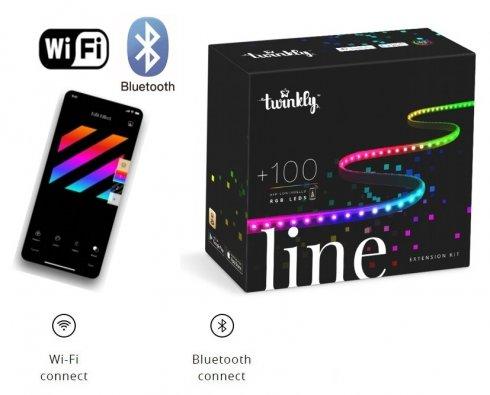 Допълнителна LED светлинна лента 1,5 м за Twinkly Line - 100 бр. RGB