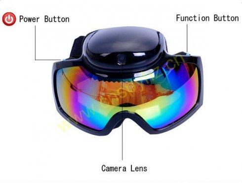 Lyžiarske okuliare s kamerou - Googles HD 720P