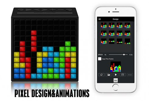 TimeBox Divoom - portable speakers with 121 RGB LED programmable
