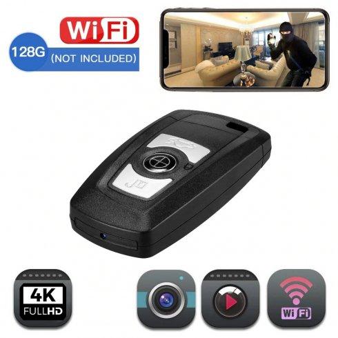 Llavero con cámara Wifi con resolución 4K - Diseño de lujo con soporte de hasta 128GB micro SD