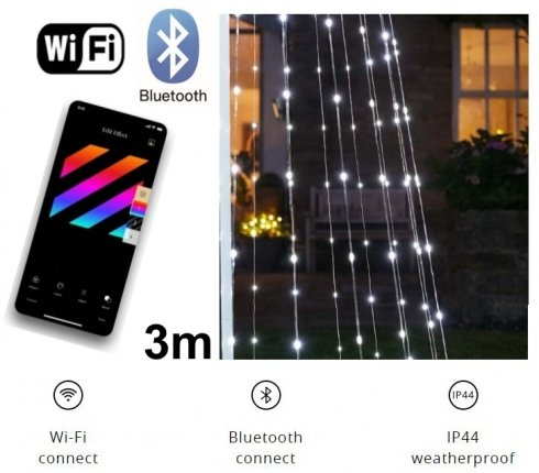 Intelligens LED karácsonyfa 3M - Twinkly Light Tree - 500 db RGB + W + BT + Wi-Fi