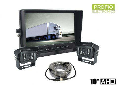 "AHD parking set with 10"" LED monitor + 2x camera with 18 IR"