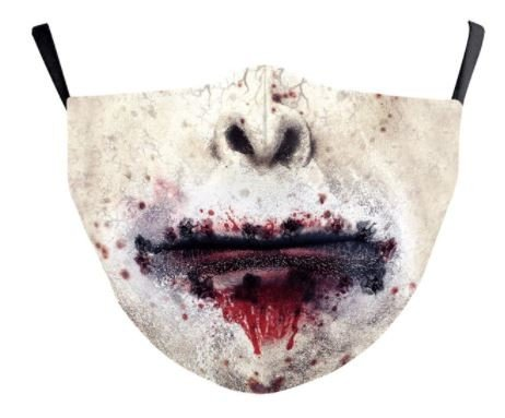 ZOMBIE face mask protective - 100% polyester