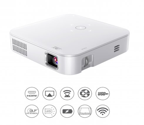 Pocket projector LED + WiFi with USB/HDMI with image up to 120""