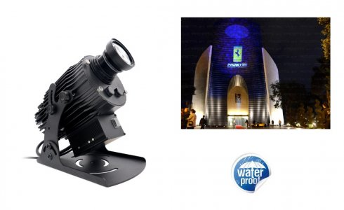 Logo projector LED Gobo 80W with projection of own logo in HD resolution up to 200M