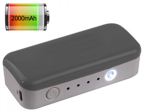 Powerbank with Li-ion battery with a capacity of 2000mAh