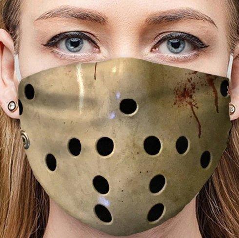 JASON VOORHEES -Ochranné rúško na tvár 100% polyester