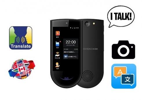 Audio translator + photo translator to 72 languages - DOSMONO T2 with Bluetooth/WiFi/4G