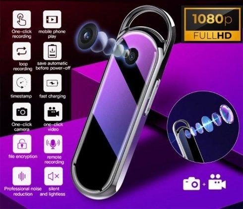 Elegante mini metal spy FULL HD camera + dictafoon + 16GB