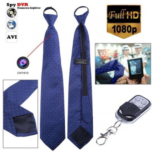 Hidden tie spy camera Full HD + micro SD support up to 32 GB