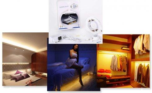 Juego de tiras de LED para la habitación Tira de 1,5M con sensor de movimiento + tiempo de apagado ajustable - PACK