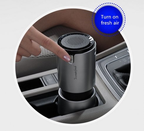 Car ionizer + home purifier (cleaner) + USB charger