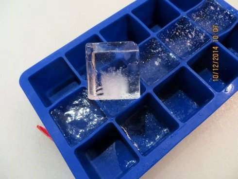 The form of ice cubes