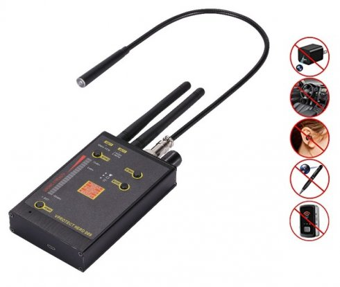 Napaka detektorja za iskanje signalov GSM 3G / 4G LTE, Bluetooth in WiFi