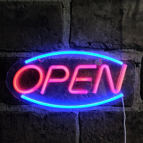 Neon bar sign OPEN - LED glow board