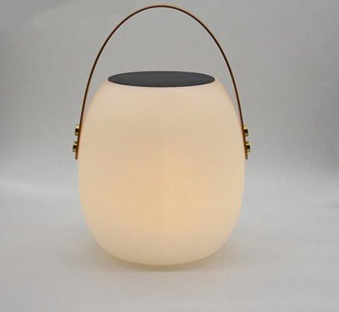 Lampe décorative LED avec poignée + couleur changeante + charge solaire + télécommande + protection IP54