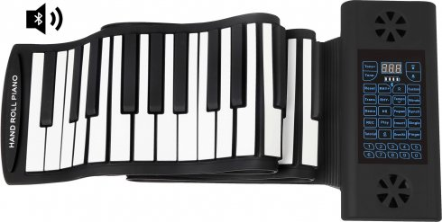 Electric piano rolling silicone pad with 61 keys + Bluetooth speakers