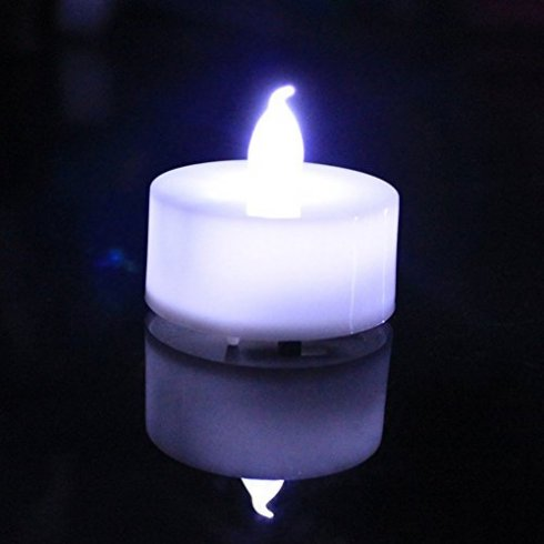 Battery candles LED with cool white light