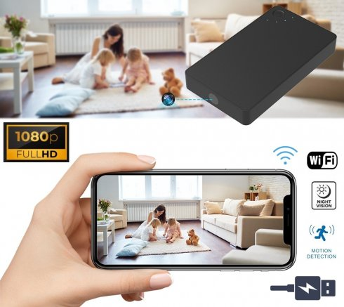 Power bank spy camera hidden in 2800mAh battery + WiFi + P2P + motion detection