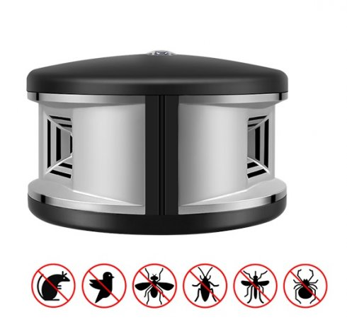 Indoor ultrasonic 360° repellent for pests and animals