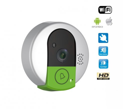 Wireless house doorbell with a Wi-Fi camera