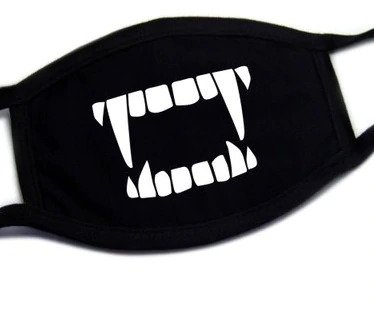 Protective face masks textile 100% cotton - pattern Vampire