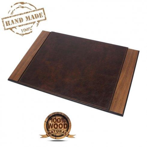 Коврики зі штучної шкіри Розкішні килимки для столу з дерев'яною основою (ручної роботи)