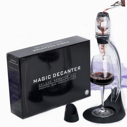 Wine decanter with a narrow neck - SET MAGIC