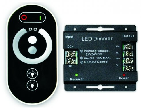 Dimmer for LED light strip with Remote control of brightness
