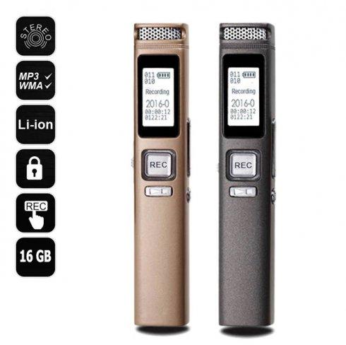 Преносим звукозапис - 360 ° съраунд запис + защита на паролата + 16 GB памет