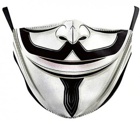 Maska na tvár - 100% polyester Anonymous (VENDETA)
