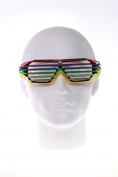 LED Coloured disco glasses - rainbow