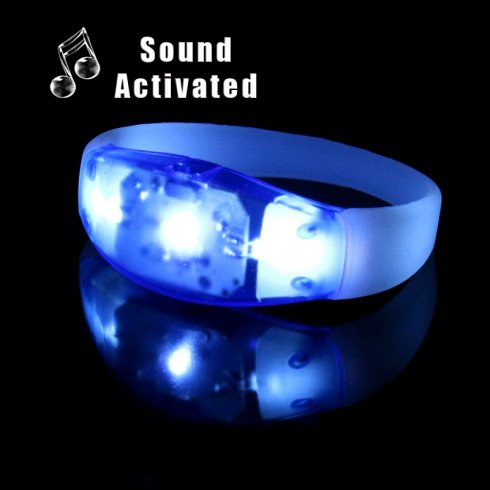 Pulseras LED Neon Party - Azul