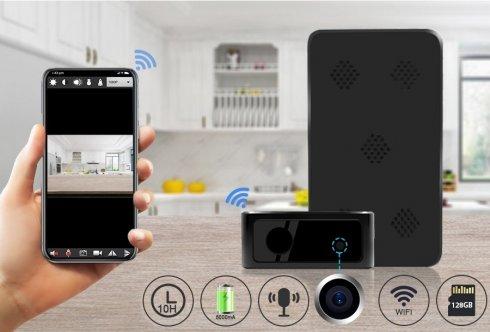 Telecamera scatola nera FULL HD + batteria da 5000 mAh + LED IR + WiFi + P2P + rilevamento del movimento