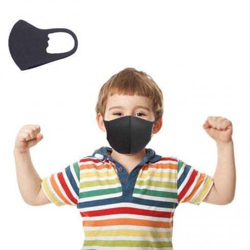 Children Face Mask NANO black (97% polyester + 3%spandex)