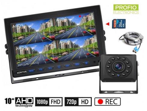 """ParkovaciekameryAHD set s nahrávaním na SD kartu - 1x HD kamera s 11 IR LED + 1x Hybridný 10"""" AHD monitor"""