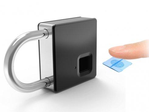 Cerradura biométrica inteligente para bloqueo de puertas.