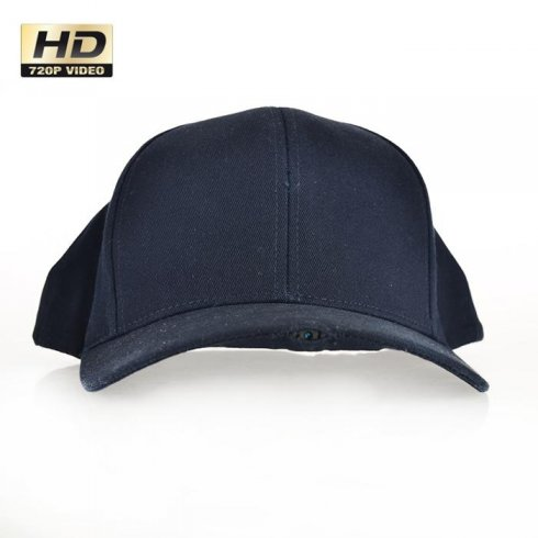 Cap with hidden HD camera with a resolution of 1280x720