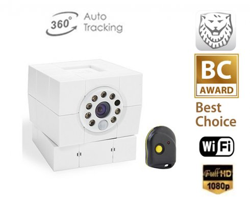 Indoor Full HD IP Security camera iCare FHD - 8 IR LEDs wih emergency remote control and face detection