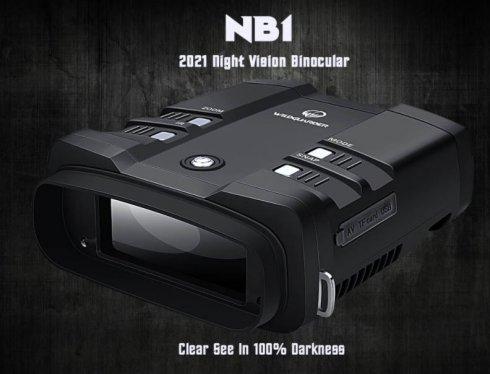 Цифровой бинокль ночного видения до 300 м - 10-кратный оптический + 3-кратный цифровой зум с камерой