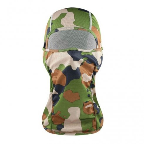 Maskáčová kukla na ochranu obličeje UNISEX - barva maskáčová army
